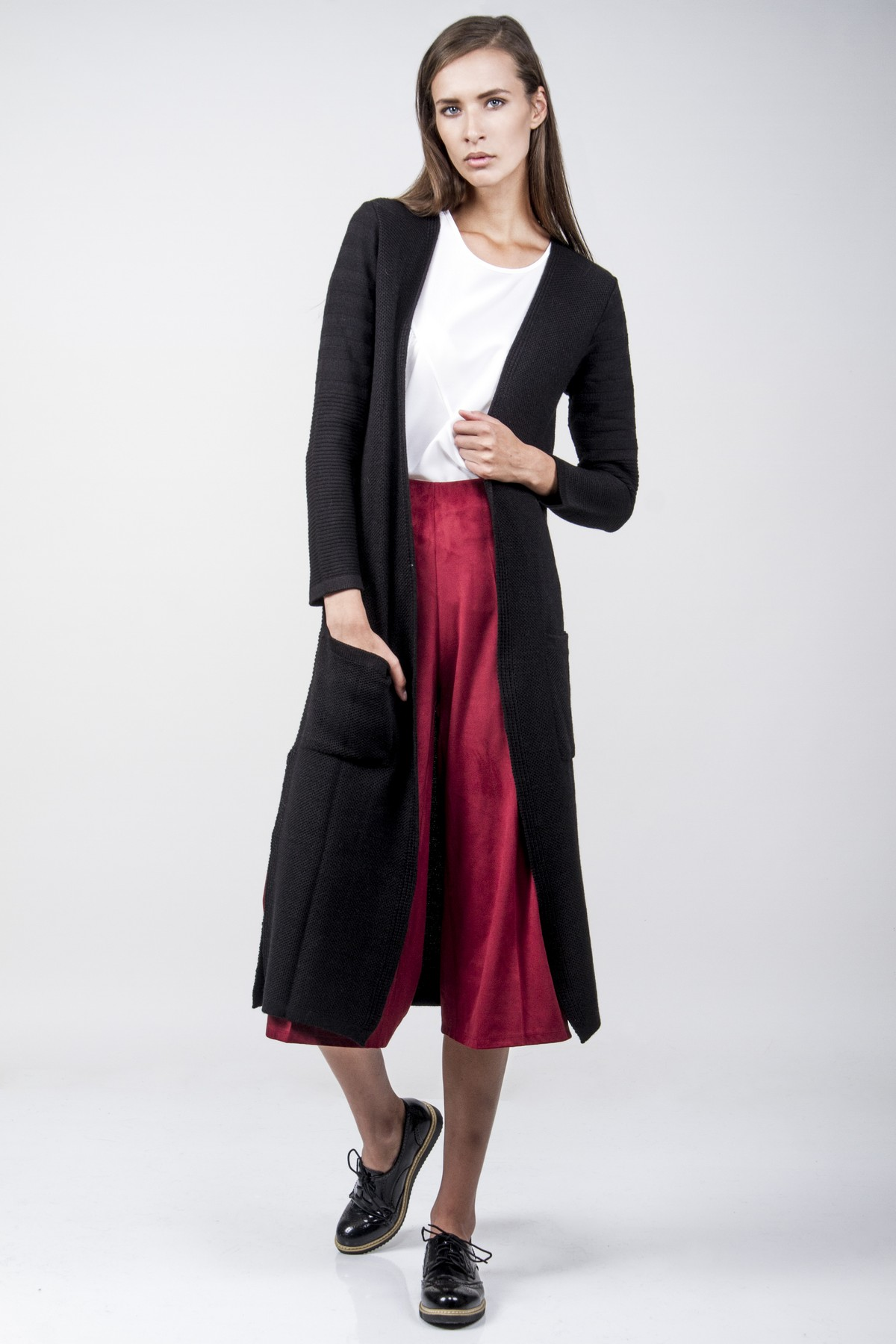 Longline cardigan with links and pockets - aggel.eu