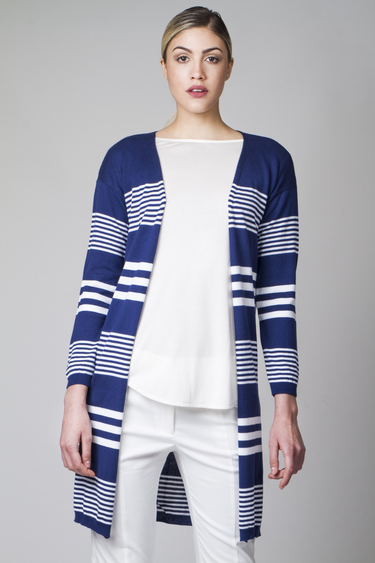 Longline striped cardigan - aggel.eu