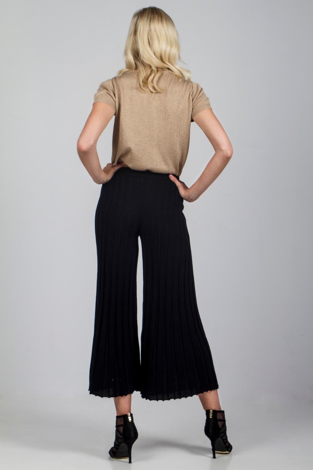 Μαύρη πλεκτή μακριά παντελόνα - aggel.eu 3c51b445a5b