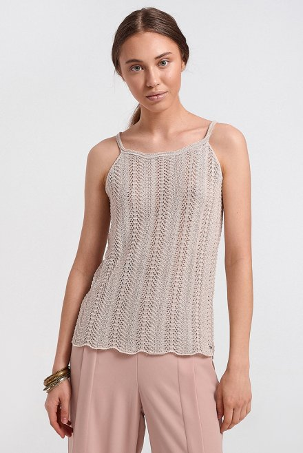 Knitted top with lurex