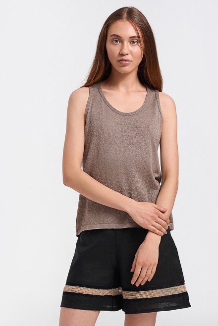 Lurex knitted top