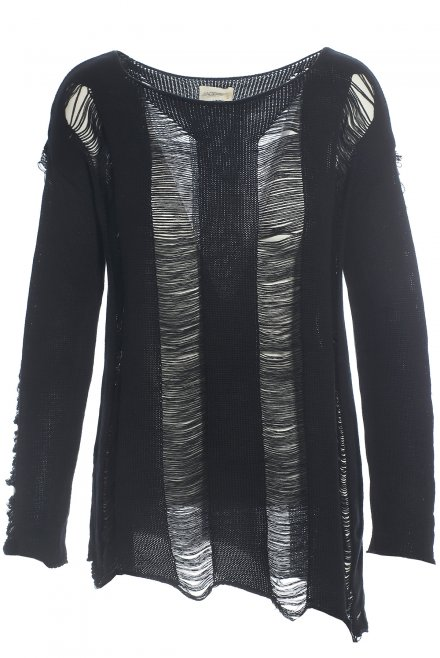 Blouse with rips black