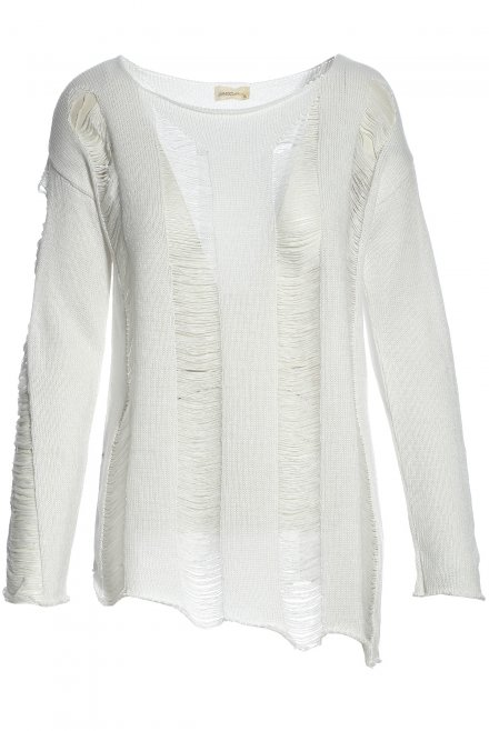 Blouse with rips white