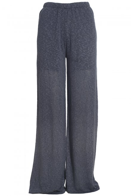 Wide-cut flama pants denim