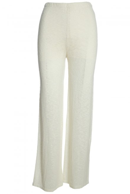 Wide-cut flama pants ivory
