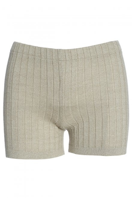Ripped shorts beige
