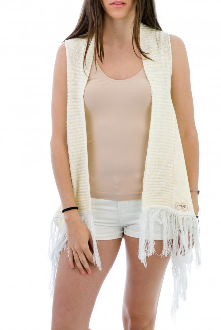 Camisole  with fringes yellow